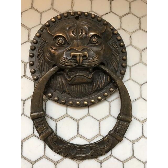 Asian Tiger Brass Door Knocker - Image 2 of 8