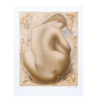 Alain Bonnefoit - Seated Nude Lithograph