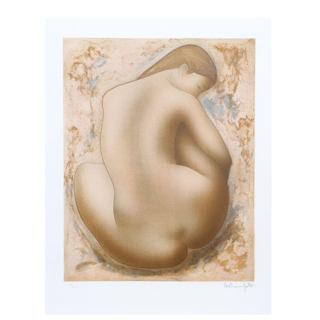 Image of Alain Bonnefoit - Seated Nude Lithograph