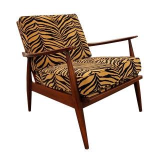 Mid-Century Danish Modern Adrian Pearsall Zebra Walnut Lounge Chair