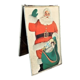 Vintage Santa Claus Placard Billboard