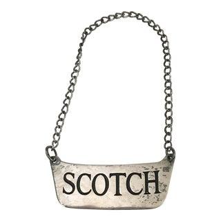 "Sterling ""Scotch"" Decanter Label"