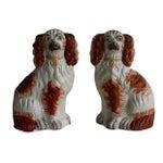 Image of 19th C. English Staffordshire Spaniel Dogs - Pair