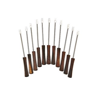 Rosewood Handled Cocktail Forks - Set of 11