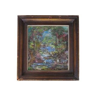 Heinrich Pfeiffer Impressionist Trout Stream