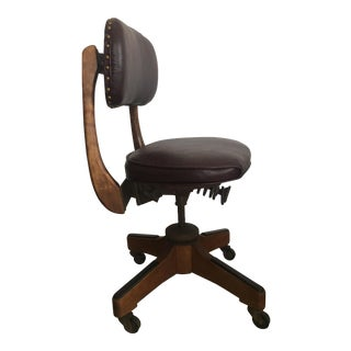 Sikes Banker's Leather Swivel Chair