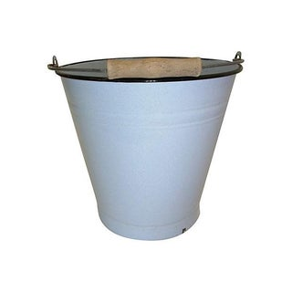 Light Blue German Enamel Garden Pail Bucket
