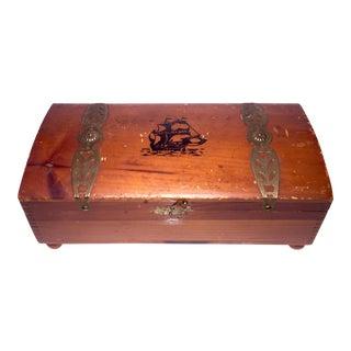 Vintage Dressertop Wooden Treasure Chest