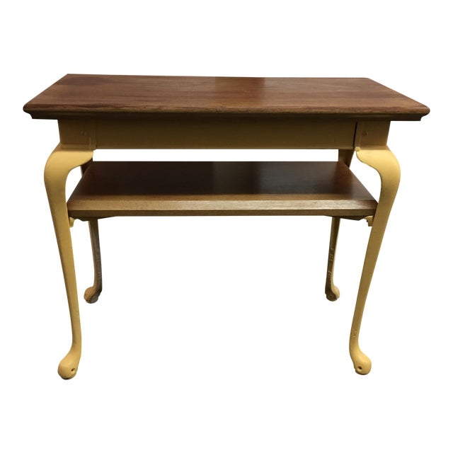 Painted Wood & Metal Console Table - Image 1 of 10