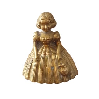 Lady in a Gown Brass Bell
