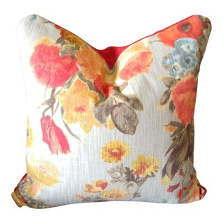 Floral Feather and Down Pillow
