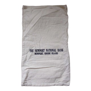 Vintage Canvas Newport R I Bank Money Bag