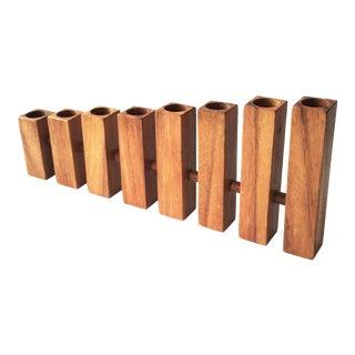 Mid Century Graduated Wood Candelabra