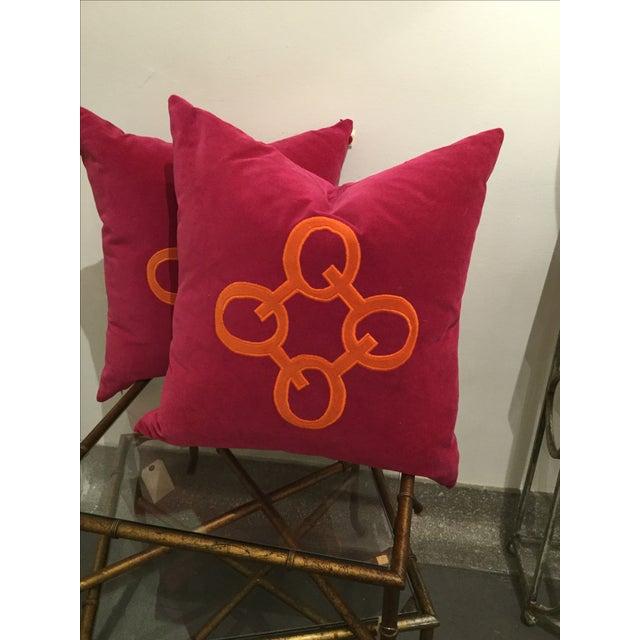 Image of Velvet Appliqué Pillow