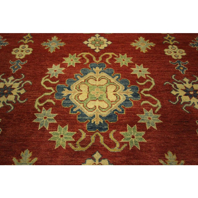 Super Kazak Hand Knotted Rug Red - 9' x 12' - Image 8 of 11
