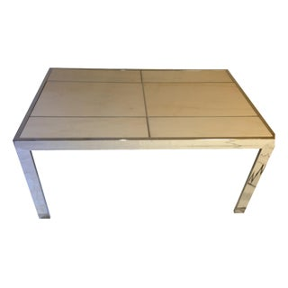Leon Rosen Chrome & Marble Dining Table for Pace