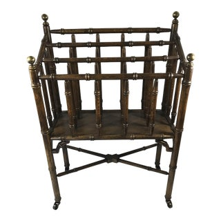 Chinese Chippendale Faux Bamboo Magazine Rack