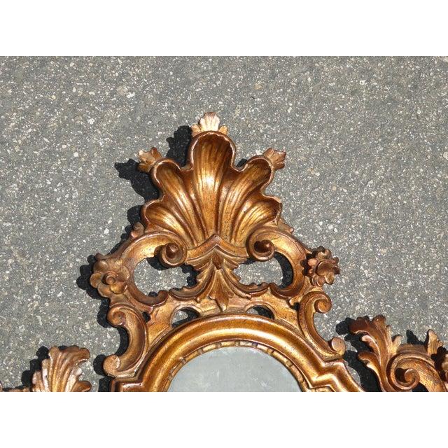 Antique Italian Rococo Giltwood Wall Mirror - Image 5 of 11