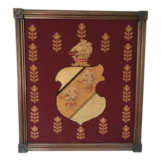 Framed Needlepoint Shield