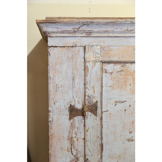 Antique Provincial Painted Italian Armoire - Image 3 of 6