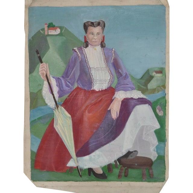Nancy Larsen Vintage Oil Painting, C.1940's - Image 1 of 6
