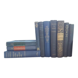 Blue and Black Vintage / Antique Books - Set of 10