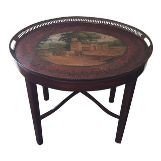 Wine-Colored Tray Table