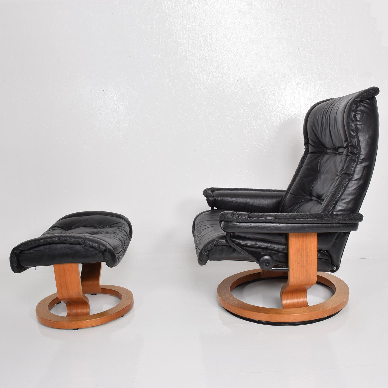Vintage Scandinavian Modern Ekornes Stressless Recliner Chair U0026 Ottoman    Image 5 Of 11