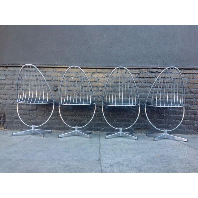 Dahlens Dalum Swedish Chrome Chairs - Set of 4 - Image 4 of 5