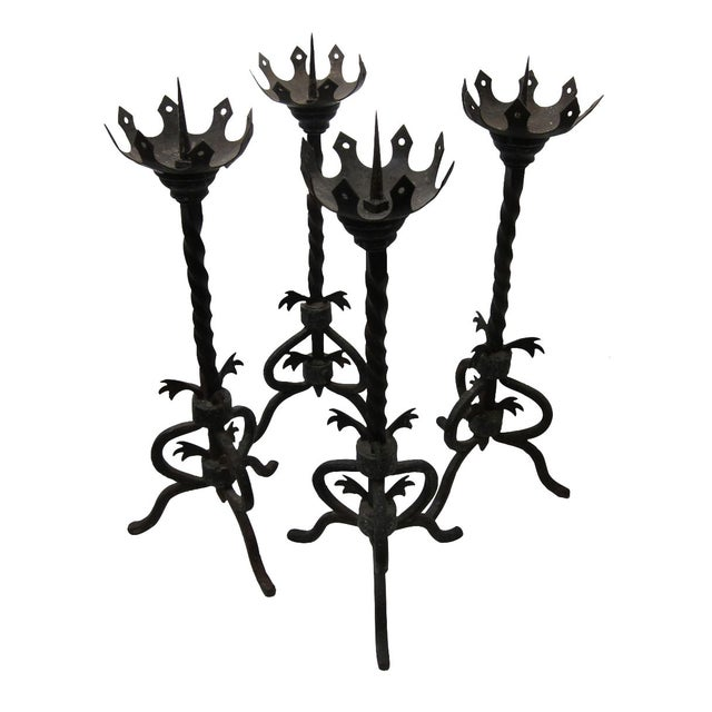 Image of 19th Century Iron Candle Prickets - Set of 4