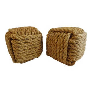 Rope Block Bookends - A Pair