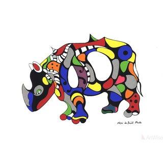 """Niki De Saint Phalle """"Rhinoceros"""" Serigraph Poster"""