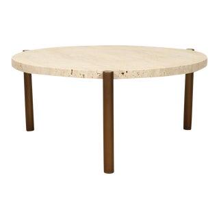 Travertine Side Table by Ten10