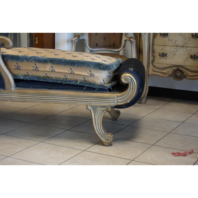 Vintage Hand Carved Chaise Lounge - Image 9 of 11