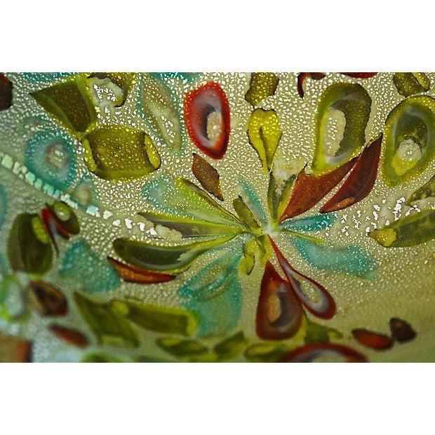 Murano Aventurine Turquoise Bowl - Image 6 of 7