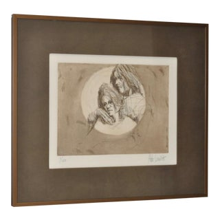 1970 Limited Edition Lithograph of a Young Couple by Aldo Luongo