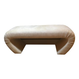 Karl Springer Upholstered Waterfall Bench