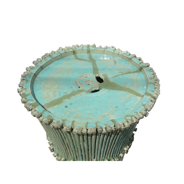 Image of Chinese Ceramic Handmade Turquoise Fountain Table