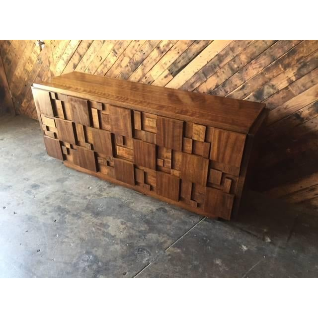 Mid Century Brutalist Dresser by Lane - Image 4 of 7