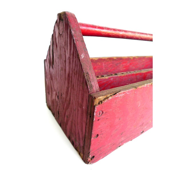 Early 20th Century Red Tool & Blade Box - Image 2 of 4