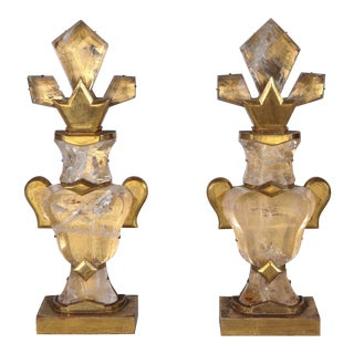 Mid-Century, French, Crystal Garnitures