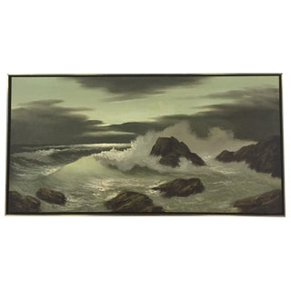 Mid-Century Ocean Landscape Painting