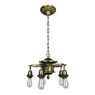 Antique Colonial Revival Pan Light Fixture (5-Light)