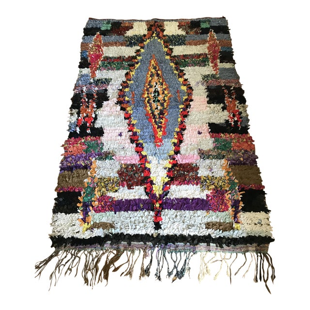 "Vintage ""Goddess"" Moroccan Boucherouite Rug - 4′5″ × 6′7″ - Image 1 of 6"