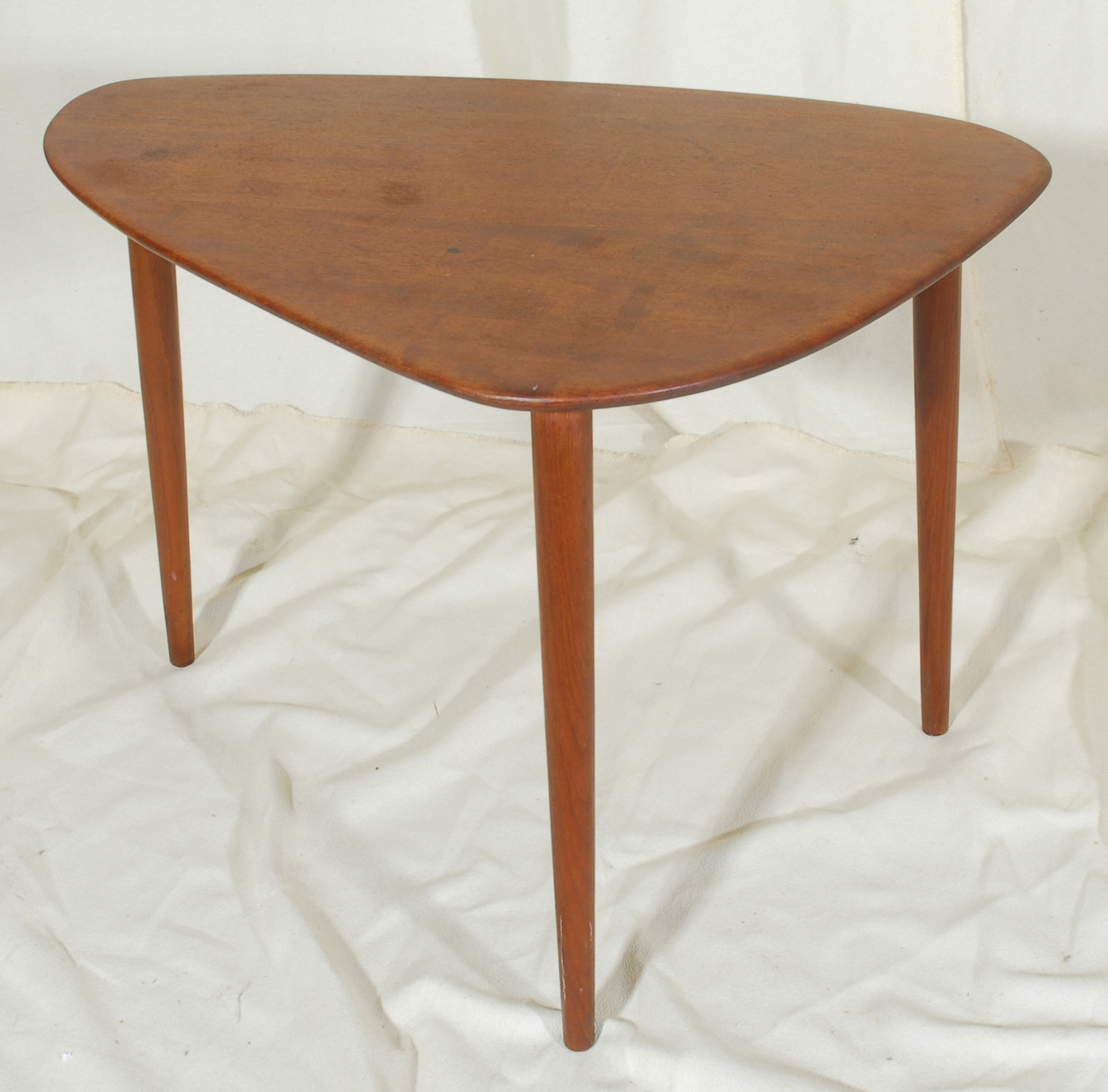 Triangular Danish Modern Teak End Table