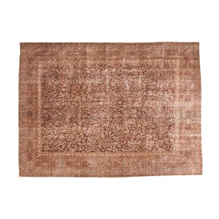 "Distressed Vintage Oushak Carpet - 8'8"" x 11'8"""
