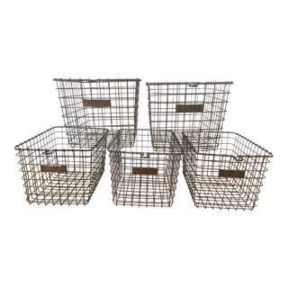 Vintage American Wire Form Co. Locker Baskets - Set of 5