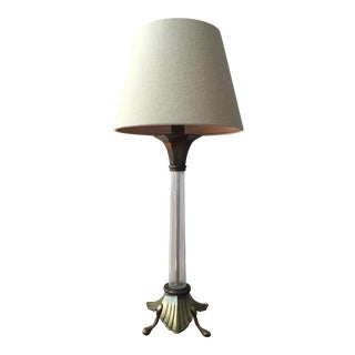 Chapman Brass & Studio Glass Table Lamp