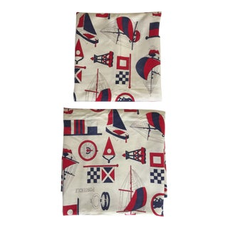 Vintage Nautical Cotton - A Pair