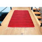 """Image of Red-Wine Mexican Wool Rug - 2' X 3'3"""""""